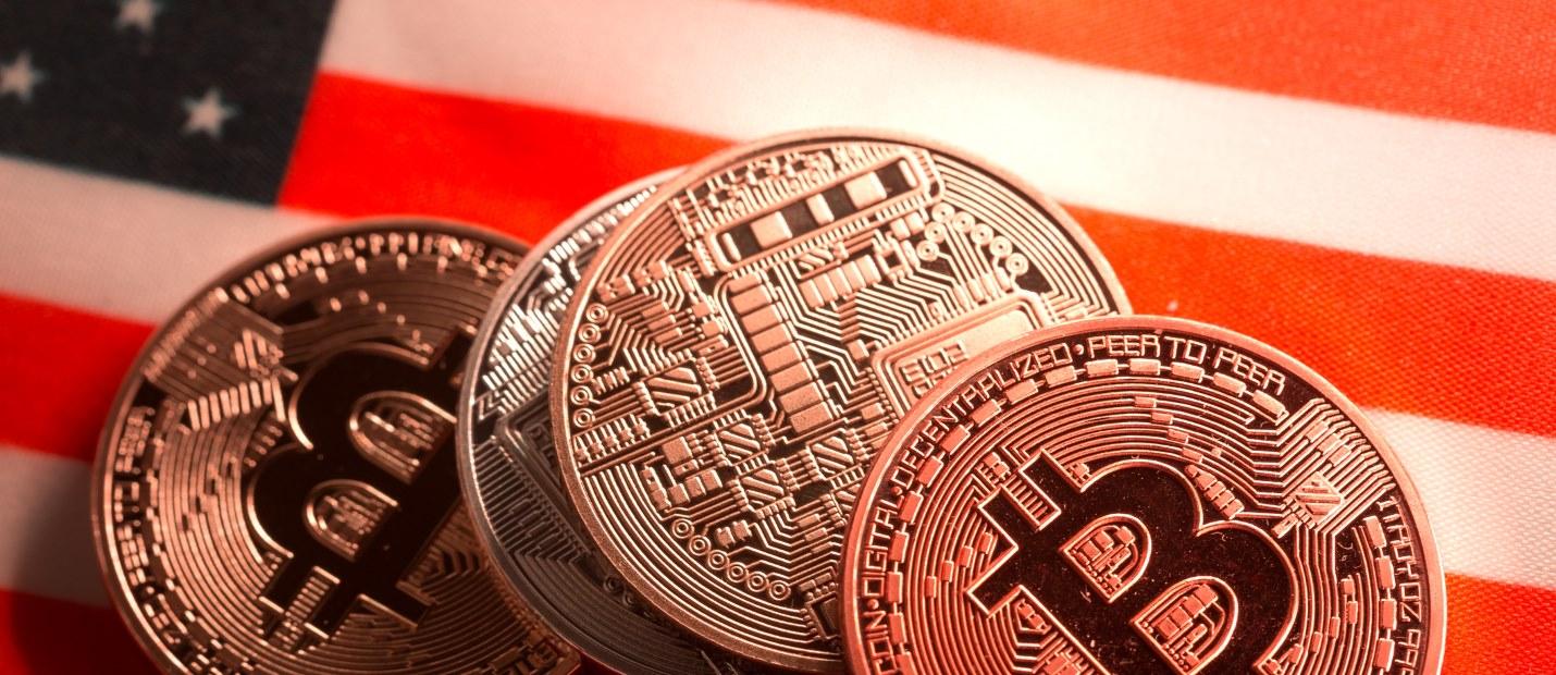 Bitcoin US flag
