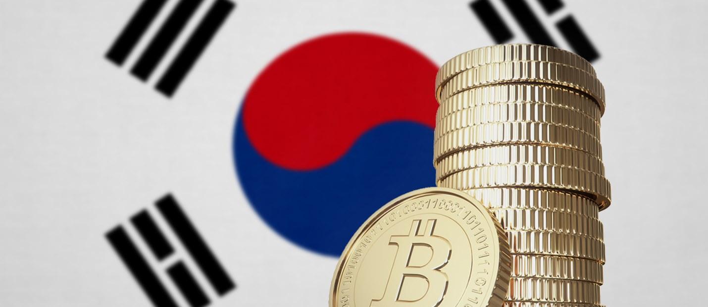 South Korea flag Bitcoin