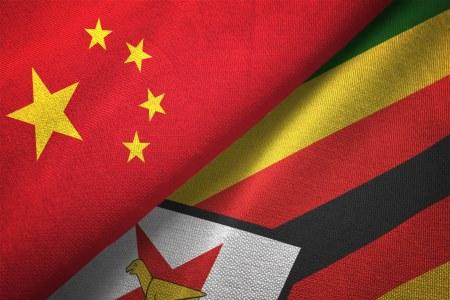 Zimbabwe Chinese flags