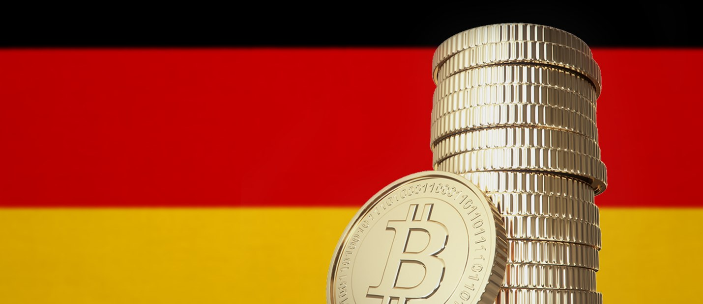 German flag Bitcoin